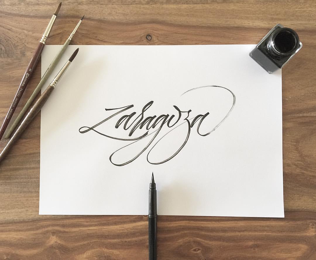 Iván Caíña Lettering